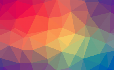 Abstract, low poly, colorful