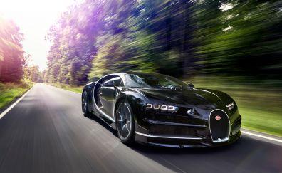 2017 Bugatti Chiron in motion car