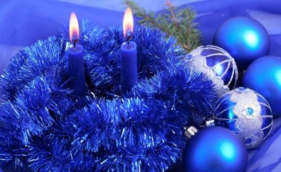 Christmas decoration of candle lights