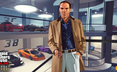 Garage from grand theft auto v video game