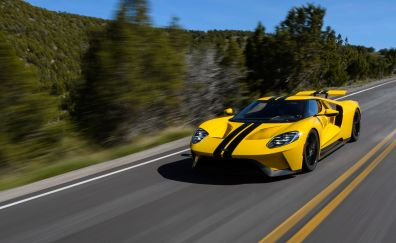 Ford GT, 2017 car, yellow
