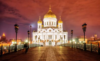 Cathedral of christ the saviour, dom, Moscow, Russia