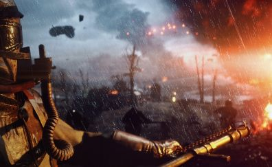 Soldier in battlefield video game