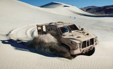 Joint light tactical vehicle, sand, desert