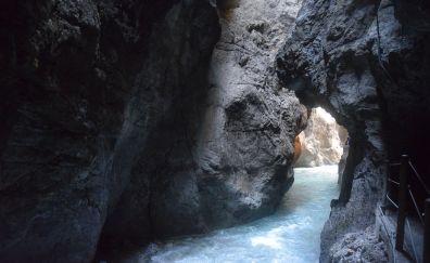 Bavaria garmisch partnachklamm bach cave