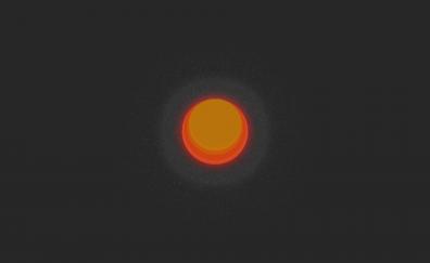 Orange sun minimal artwork