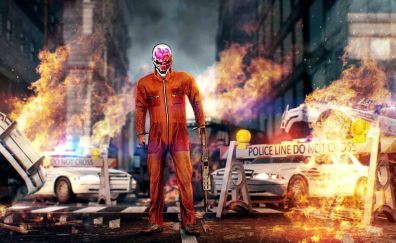 Payday 2, video game, game, gaming, fire
