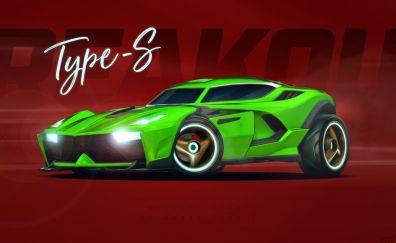 Rocket League, video game, sports car, art
