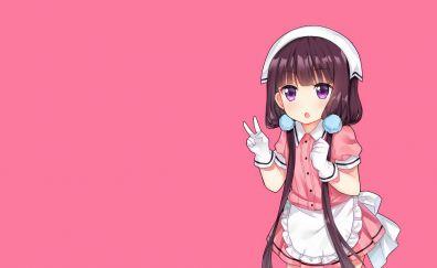 Minimal, Maika Sakuranomiya, Blend S, anime girl