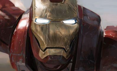 Iron man, head, helmet, superhero, marvel comics