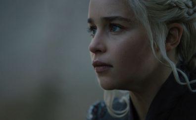 Daenerys Targaryen, Emilia Clarke, face, Game of thrones, season 7