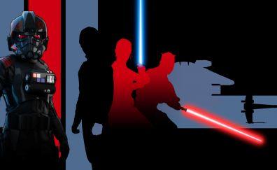 Star wars battlefront 2, video game, dark, artwork