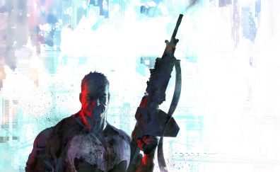 The punisher, gun, art