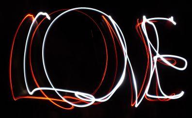 Love, typography, lights