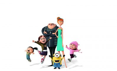 Despicable Me 3, Gru and family, minions