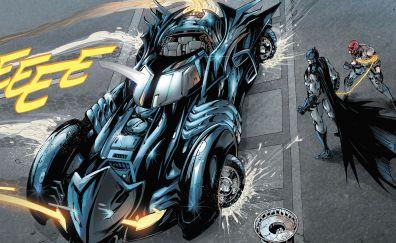 Batman, batmobile, red hood, comics