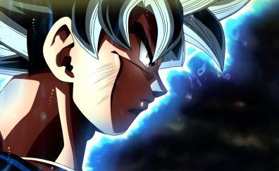 Goku's face, dragon ball super, 4k