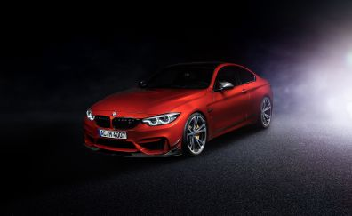 Ac schnitzer's bmw M4 coupe, red car, 2017, 4k