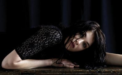 Gemma Arterton, lying down, actress, brunette