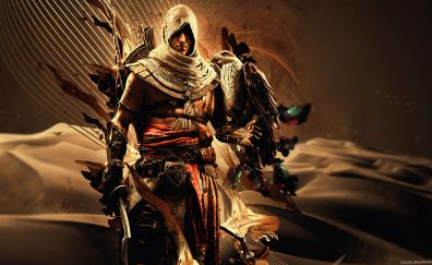 Assassin's creed, warrior, video game, 4k