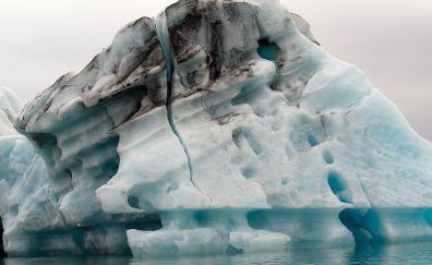Iceland glacier icebergs lagoon