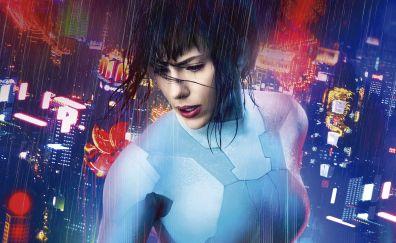 2017 movie, Scarlett Johansson in Ghost in the shell movie