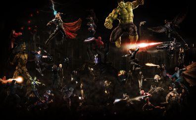 Avengers: infinity war, 2018 movie, fan artwork, 5k
