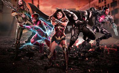 Justice league, 2017 movie, fan artwork