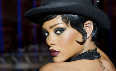 Rihanna in Valerian and the City of a Thousand Planets, singer, face, 4k