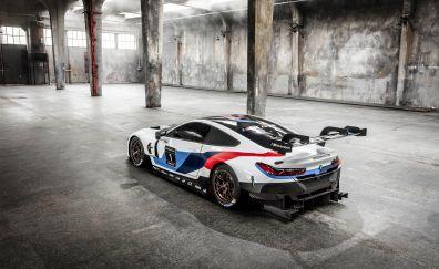 BMW M8 GTE, 2018 car, rear view
