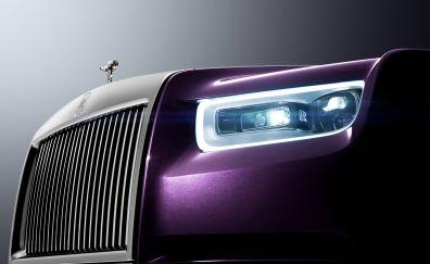 Rolls-Royce Phantom, logo, headlights