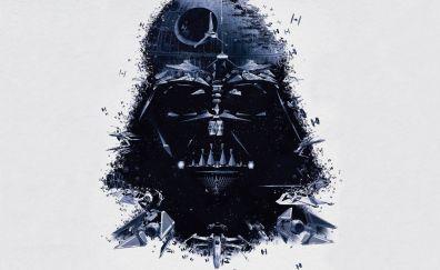 Darth Vader, death star artwork