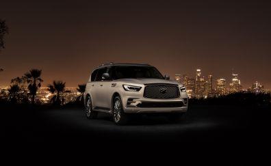SUV, car, infiniti qx80, 4k
