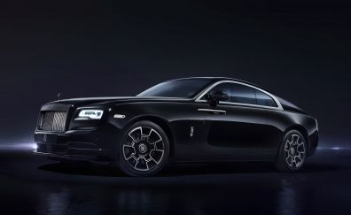 Black Rolls-Royce Wraith, luxury car, 5k