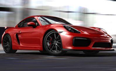 Porsche Cayman GT4, sports car, video game