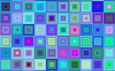 Squares, gradient, pattern, abstract