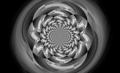 Monochrome, illusion circles artwork