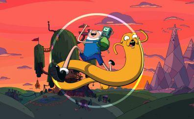 Cartoon, Adventure Time, Jake and Finn