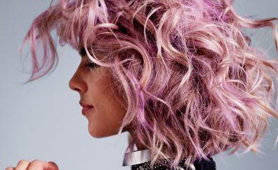 Colored hair, celebrity, Emily Bett Rickards