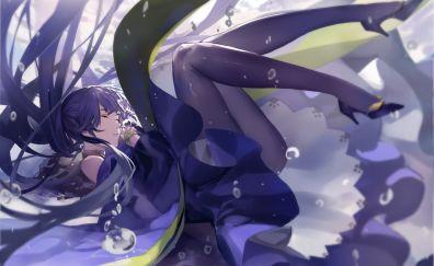 Warship girls, underwater, anime girl