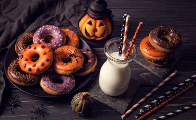 Halloween, food, cookies, doughnuts