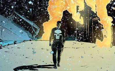 The punisher, walk, comics, superhero