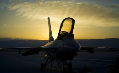 General Dynamics F-16 Fighting Falcon, military, fighter aircraft, 4k