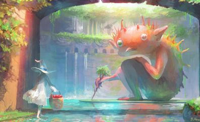 Anime creature art