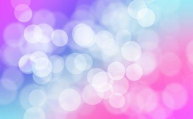 Bubbles, gradient, bokeh, abstract, circles, 4k