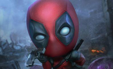 Deadpool, funny face, fan art