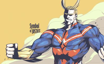 All might, anime boy, justice, My Hero Academia