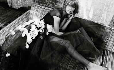 Taylor swift, singer, beautiful monochrome