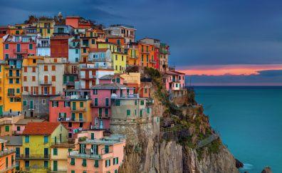 Mediterranean bay town, apartments