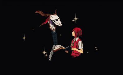 Elias Ainsworth, Chise Hatori, Mahou Tsukai no Yome, anime, minimal